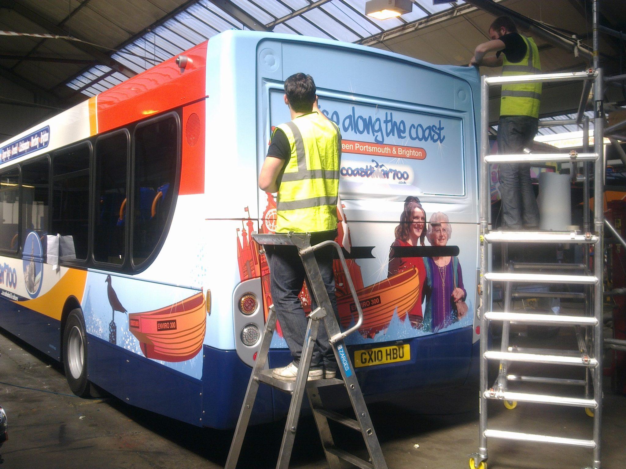 Coastliners route branding - bus livery design